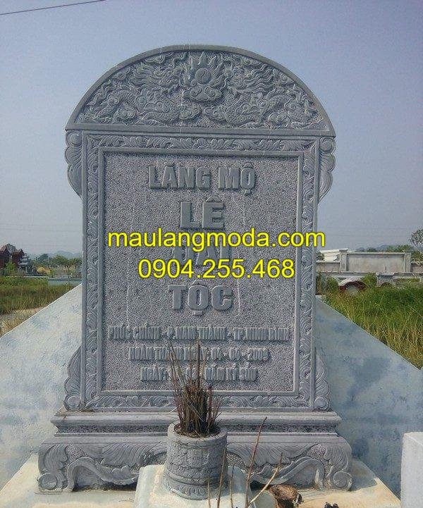 Mẫu bia mộ bằng đá đang được ưa chuộng