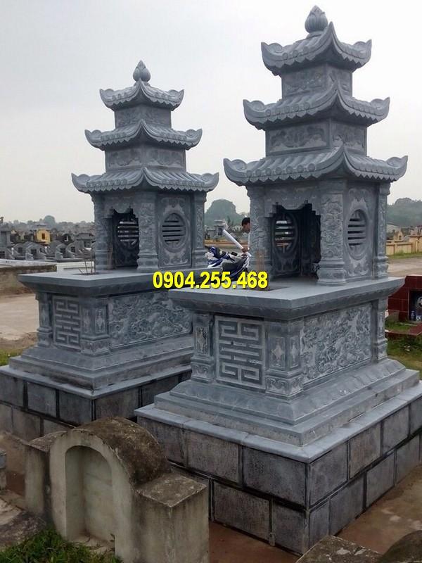 Mộ đá ba mái chuẩn phong thuỷ, kích thước đa dạng