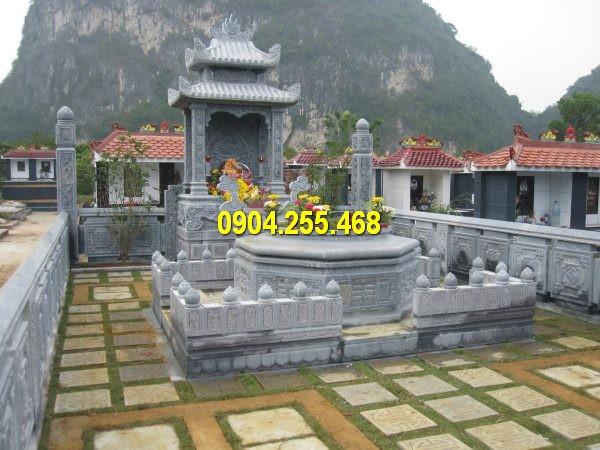 Khu lăng mộ đá gia đình kích thước lớn, thiết kế đẹp