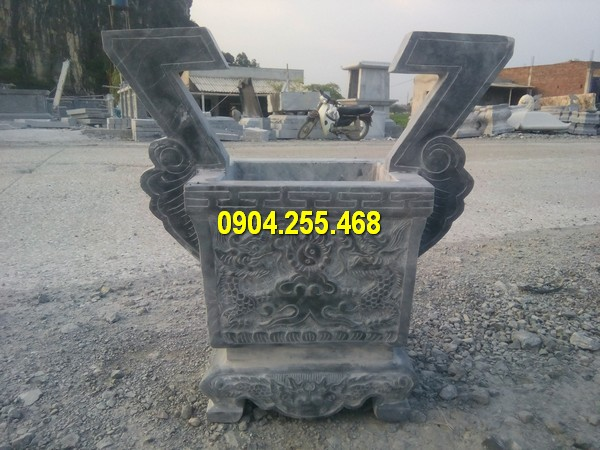 Lư hương đá vuông