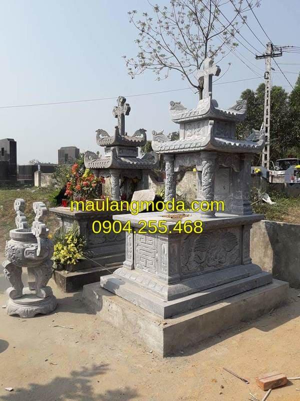 Những mẫu mộ đá hai mái đẹp nhất tại Ninh Vân - Ninh Bình