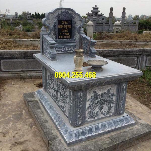Sản phẩm mộ được làm từ đá tự nhiên có màu sắc đẹp mắt