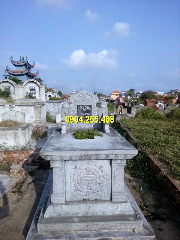 Mẫu mộ đá tam sơn đẹp chuẩn phong thuỷ, kích thước chuẩn thước lỗ ban