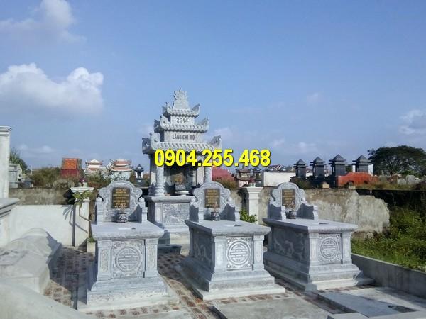 Mộ đá hậu bành được sử dụng nhiều tại các khu lăng mộ gia đình, dòng họ