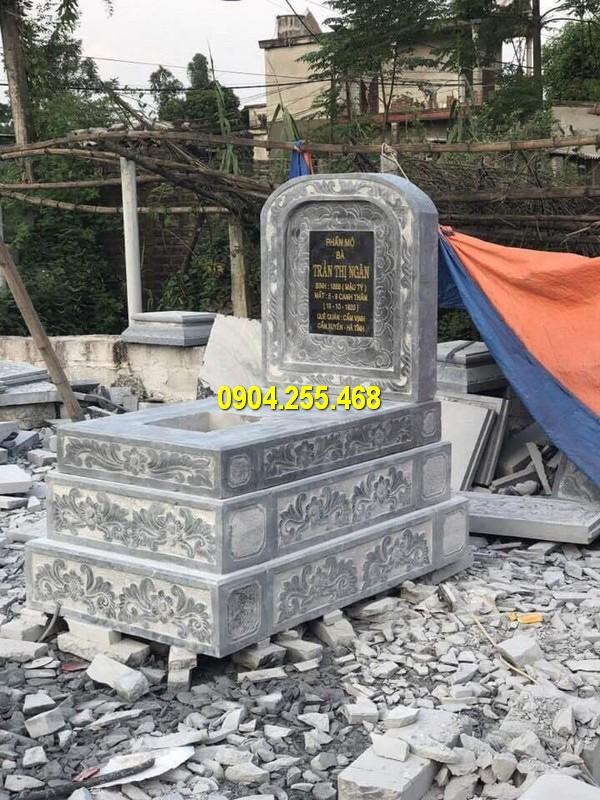 Hình ảnh mộ tam sơn bằng đá được thiết kế đẹp mắt