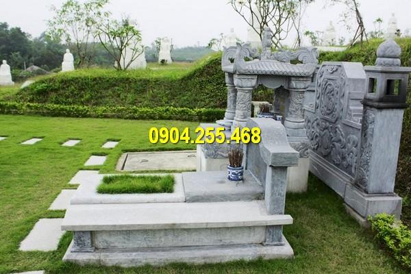 Mẫu mộ tam sơn hậu bành bằng đá chất lượng cao