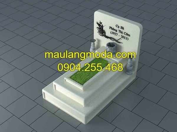 Kích thước mẫu mộ xây đẹp đơn giản