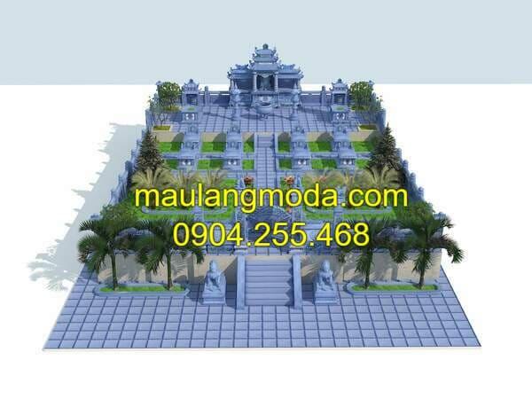 Bản vẽ thiết kế lăng mộ đá đẹp tại Ninh Bình