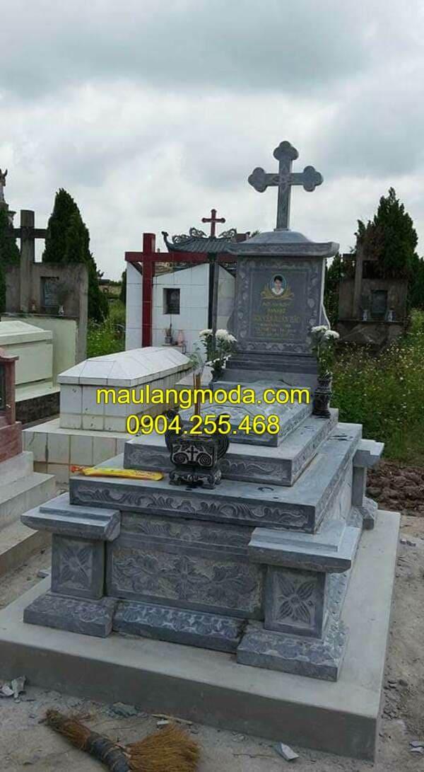 Mộ số mẫu lăng mộ đá công giáo tại Ninh Vân - Ninh Bình