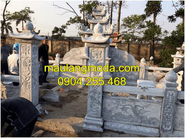 Những mẫu lăng mộ đá xanh đẹp nhất Ninh Vân