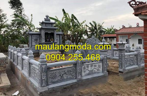 Khu lăng mộ được làm từ đá xanh đen cao cấp tại Ninh Vân