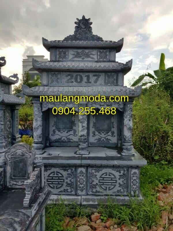 Mẫu mộ đôi đá mỹ nghệ đẹp tại Ninh Bình