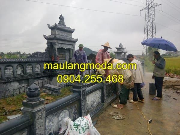 Địa chỉ thi công lăng mộ đá đẹp tại Ninh Vân - Ninh Bình