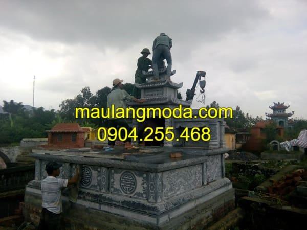 Thi công khu lăng mộ đá đẹp tại Ninh Vân