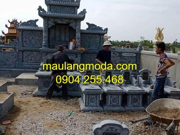 Thi công lăng mộ đá đẹp tại Ninh Vân - Ninh Bình
