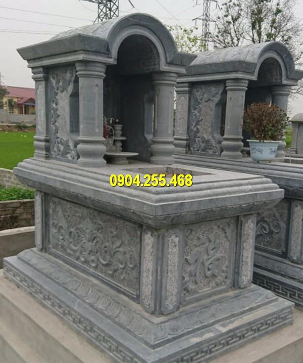 Sản xuất lăng mộ đá đa dạng mẫu mã, kích thước