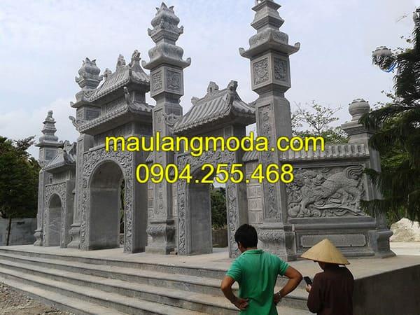 Cổng chùa, cổng đình, cổng làng bằng đá xanh cao cấp