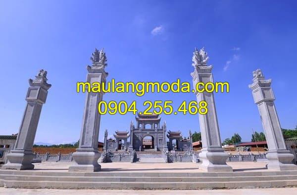 Cổng chùa, cổng đình, cổng làng bằng đá xanh đang được ưa chuộng