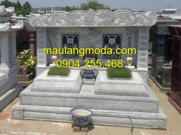 Lăng mộ bằng đá xanh nguyên khối cao cấp