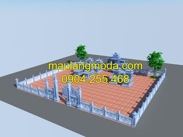 Xây dựng khu mộ gia đình chuẩn theo phong thủy