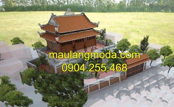 Bản thiết kế mẫu nhà thờ tổ tiên đẹp tại Ninh Vân