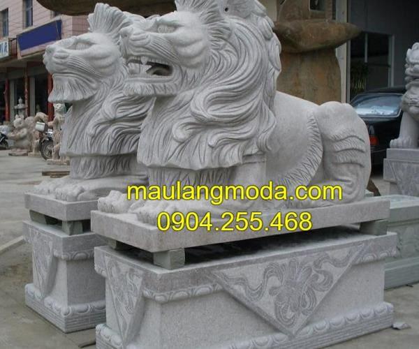 Mẫu tượng sư tử đá mỹ nghệ đẹp tại Ninh Bình
