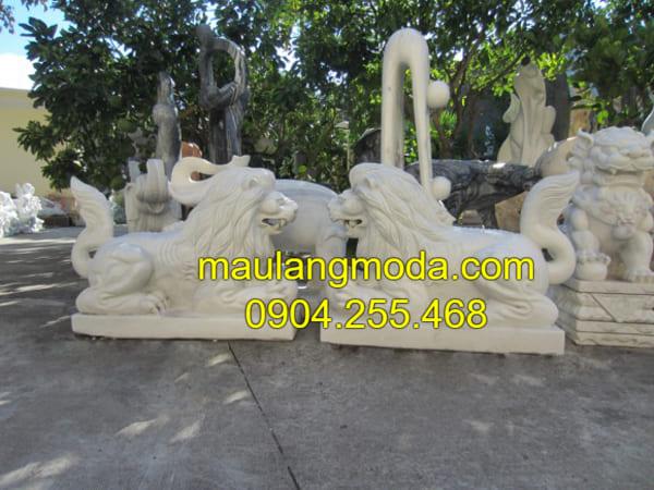 Những hình ảnh linh vật sư tử đá mỹ nghệ đẹp nhất Ninh Vân