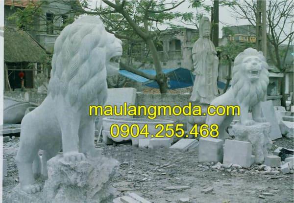 Sư tử đá mỹ nghệ tại Ninh Vân
