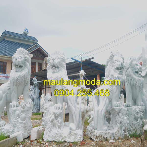 Địa chỉ bán tượng sư tử đá đẹp tại làng đá Ninh Vân