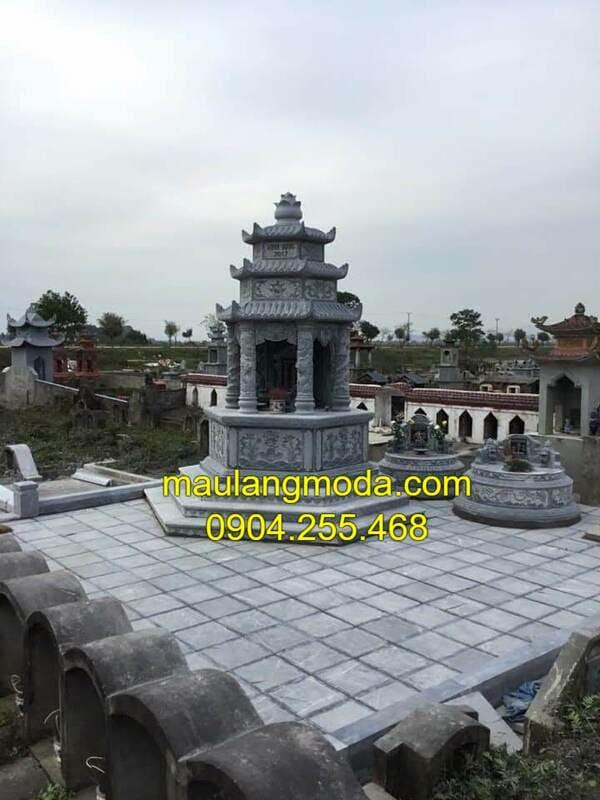Mẫu mộ tháp đá đẹp tại Ninh Vân