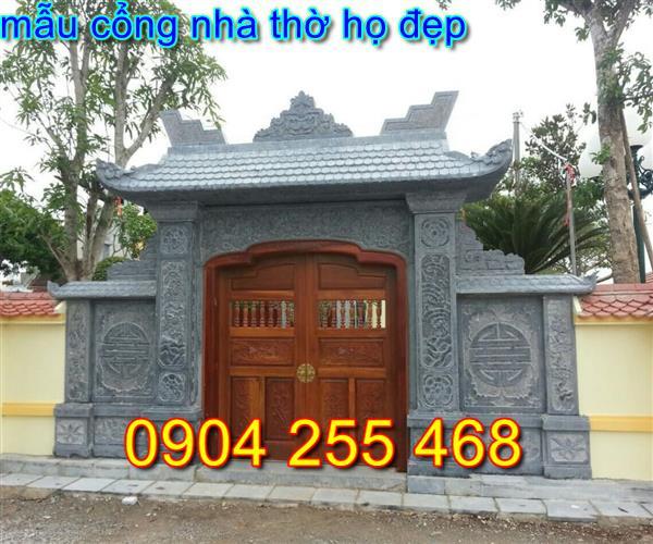 Xây Dựng cổng đá nhà thờ họ tại Hải Dương