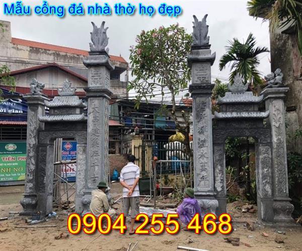 Xây Dựng cổng đá nhà thờ họ tại Quảng Ninh