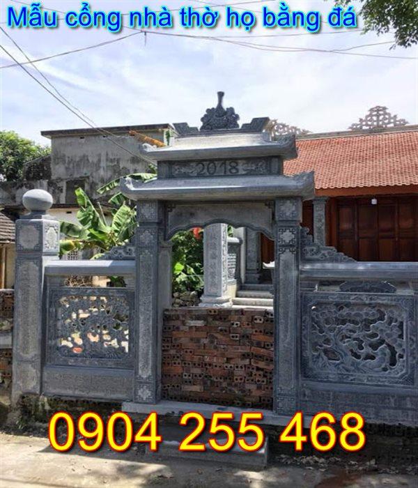 cổng nhà thờ họ bằng đá đẹp tại Nam Định