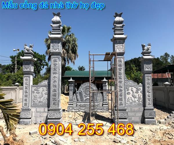 cổng nhà thờ họ bằng đá đẹp tại Quảng Ninh