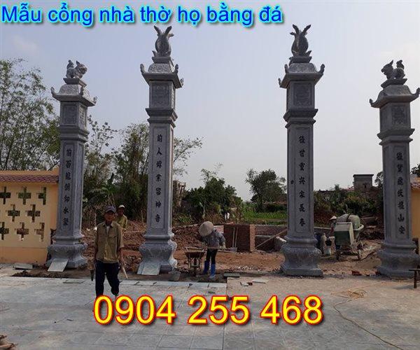 cổng nhà thờ họ bằng đá tại Nam Định