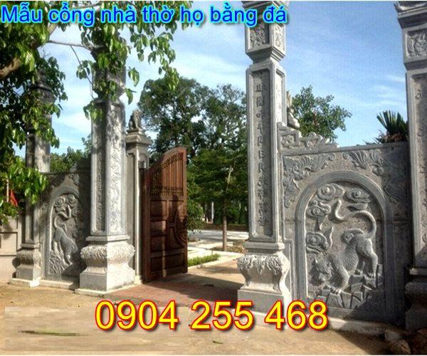 mẫu cổng đá nhà thờ họ tại Nam Định