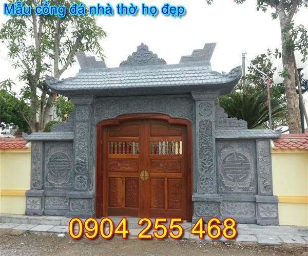 mẫu cổng đá nhà thờ họ tại Quảng Ninh