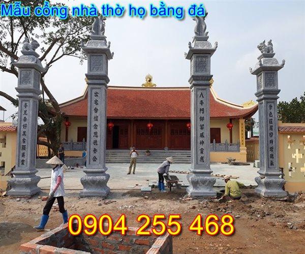 mẫu cổng nhà thờ họ đẹp bằng đá tại Nam Định