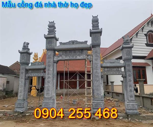 mẫu cổng nhà thờ họ đẹp bằng đá tại Quảng Ninh