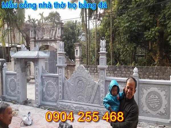 mẫu cổng nhà thờ họ đẹp tại Nam Định
