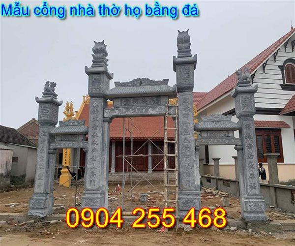 Xây dựng cổng đá nhà thờ họ tại Nam Định