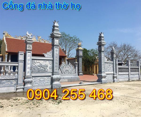 Xây Dựng cổng đá nhà thờ họ tại Thái Nguyên