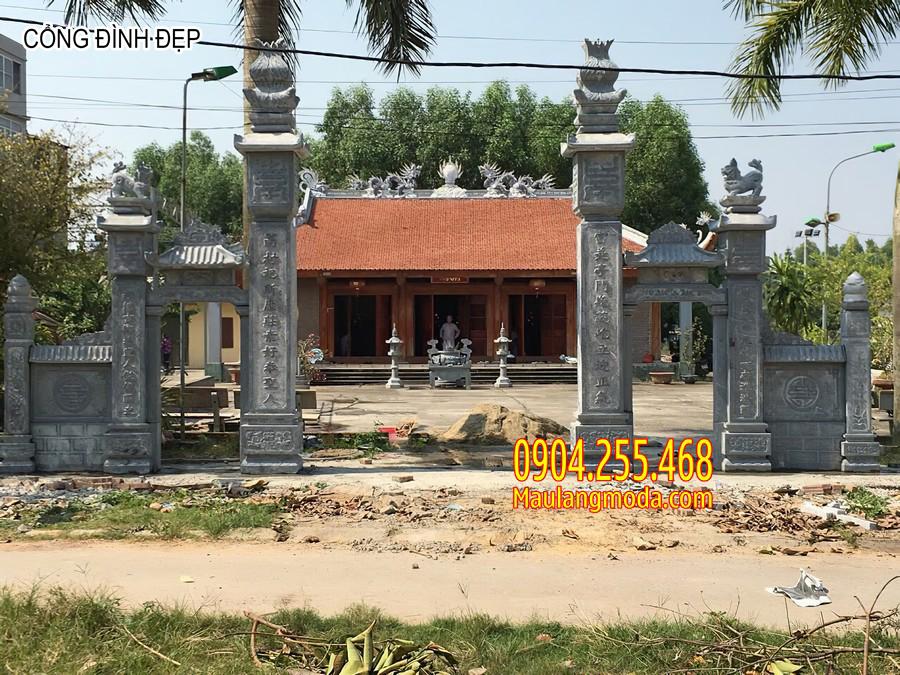 cổng đình, cổng đình đẹp, mẫu cổng đình chùa, cổng đình chùa đẹp, cổng đình chùa, mẫu cổng đình đẹp bằng đá, mẫu cổng đình đẹp