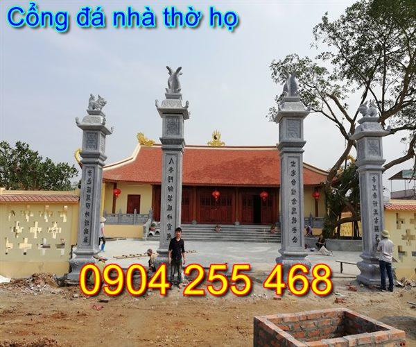 cổng nhà thờ họ bằng đá đẹp tại Thái Nguyên