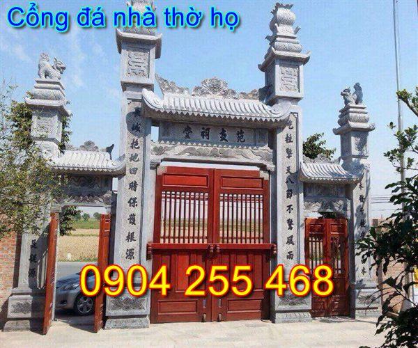 cổng nhà thờ họ bằng đá tại Thái Nguyên