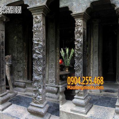 Mẫu cột hiên đá xanh đen đẹp nhất Việt Nam