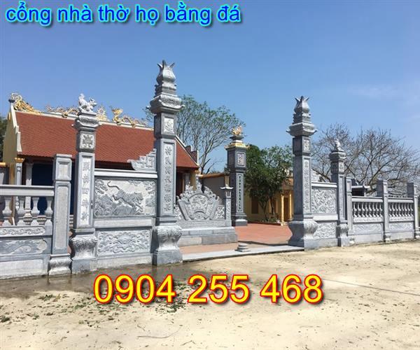 mẫu cổng đá nhà thờ họ tại Hà Nội