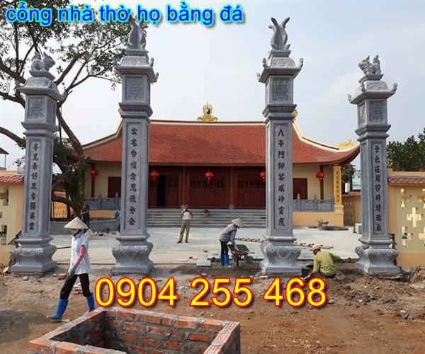mẫu cổng nhà thờ họ đẹp bằng đá tại Hà Nội