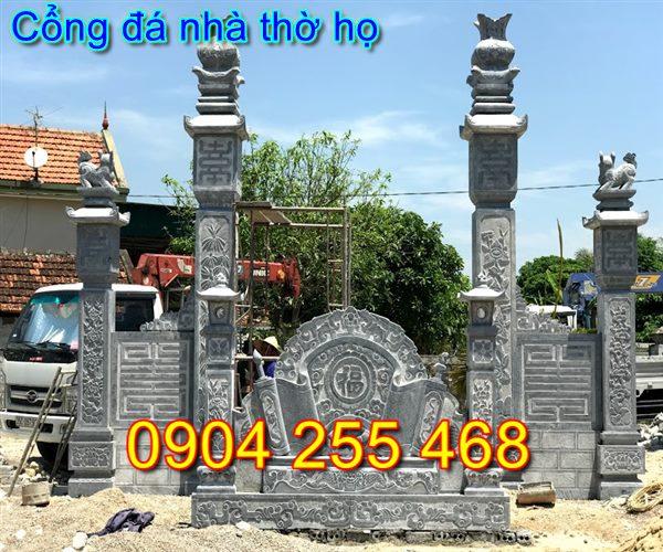 mẫu cổng nhà thờ họ đẹp bằng đá tại Thái Nguyên