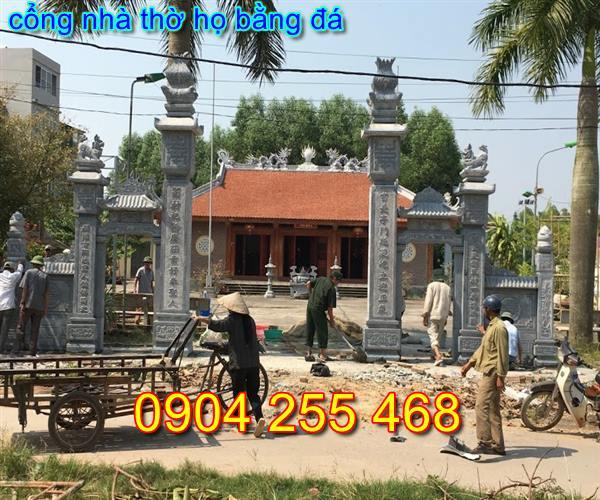 mẫu cổng nhà thờ họ đẹp tại Hà Nội